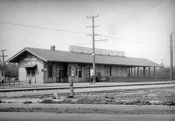 Southern Pacific / Pacific Electric Depot, Lankershim, 1893