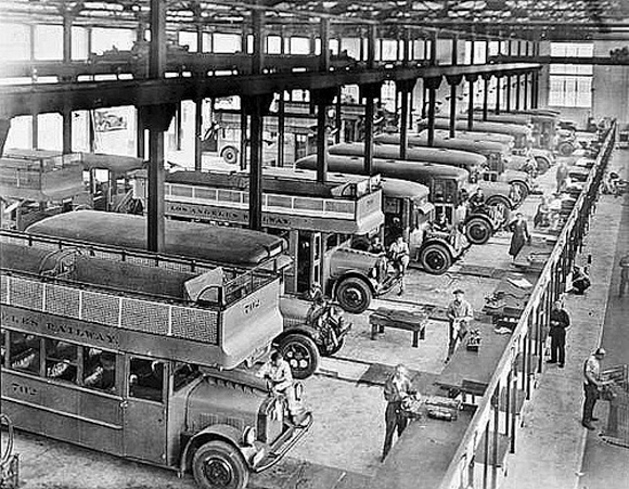 Los Angeles Railway 16th Street Bus Garage, Los Angeles, 1926